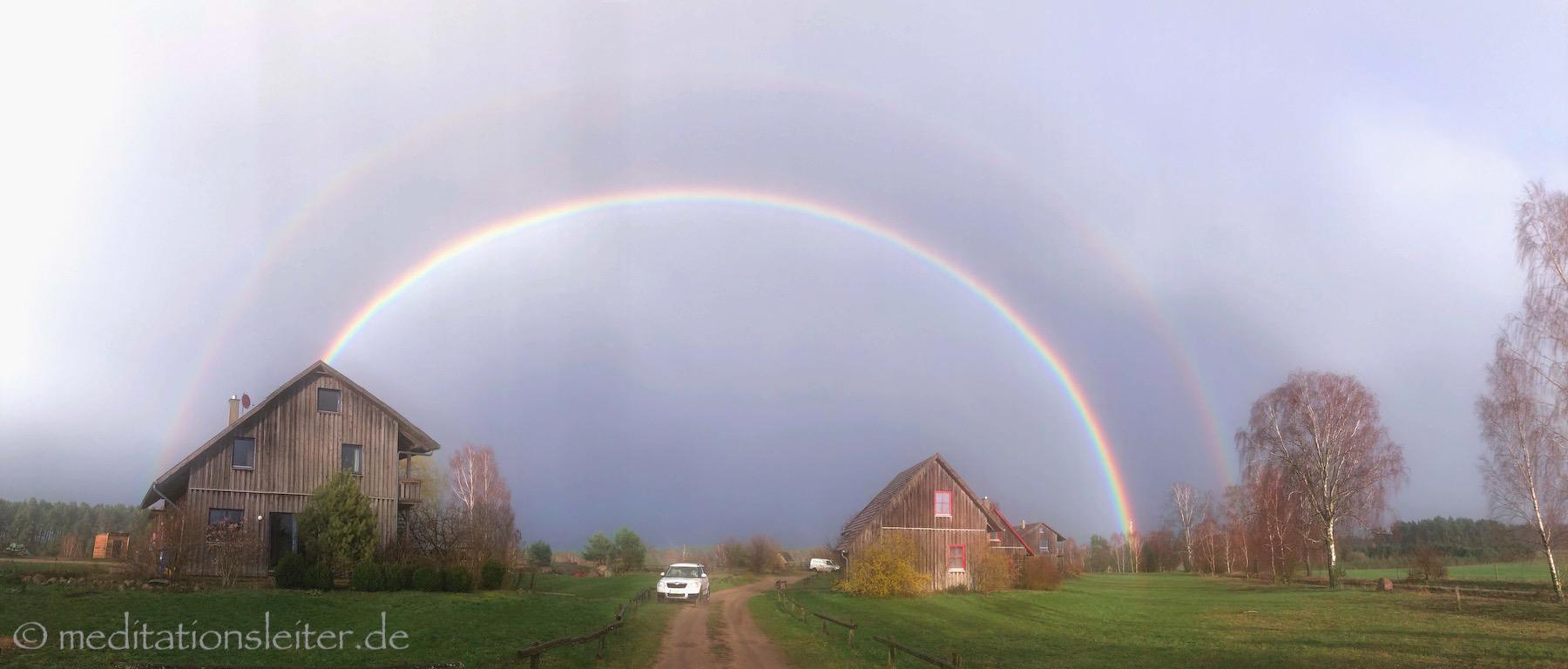 Regenbogen in Zempow Seelenlicht Seminar