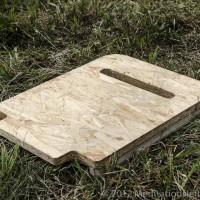 Ein Holzteil des Sitzes