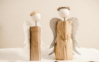 Engel ~ Jahresendfigur mit Flügel