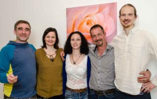 Meditationsleiter Ausbildung in Berlin - von li nach re: Rebecca Mailand-Graf, Viola Falkenstein, Lars Anscheit und Matthias Weh