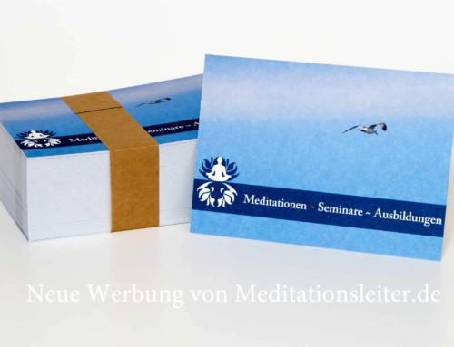 Neue Werbung von Meditationsleiter.de
