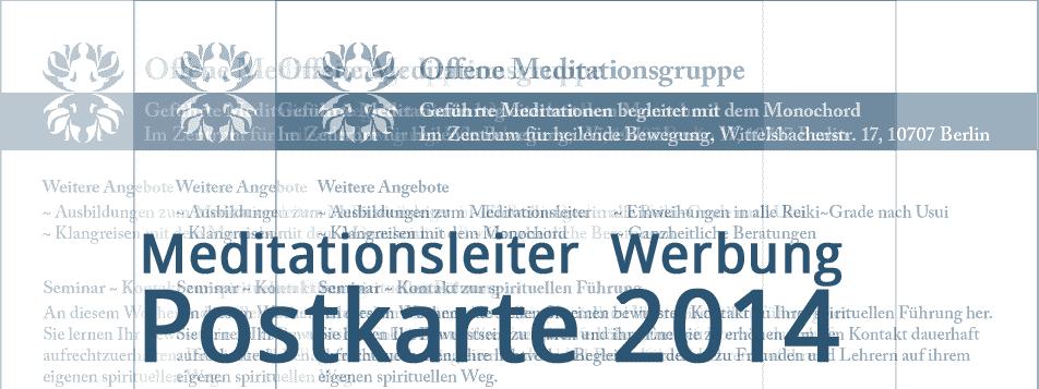 Werbung für unsere Angebote ~ Meditationsleiter 2014