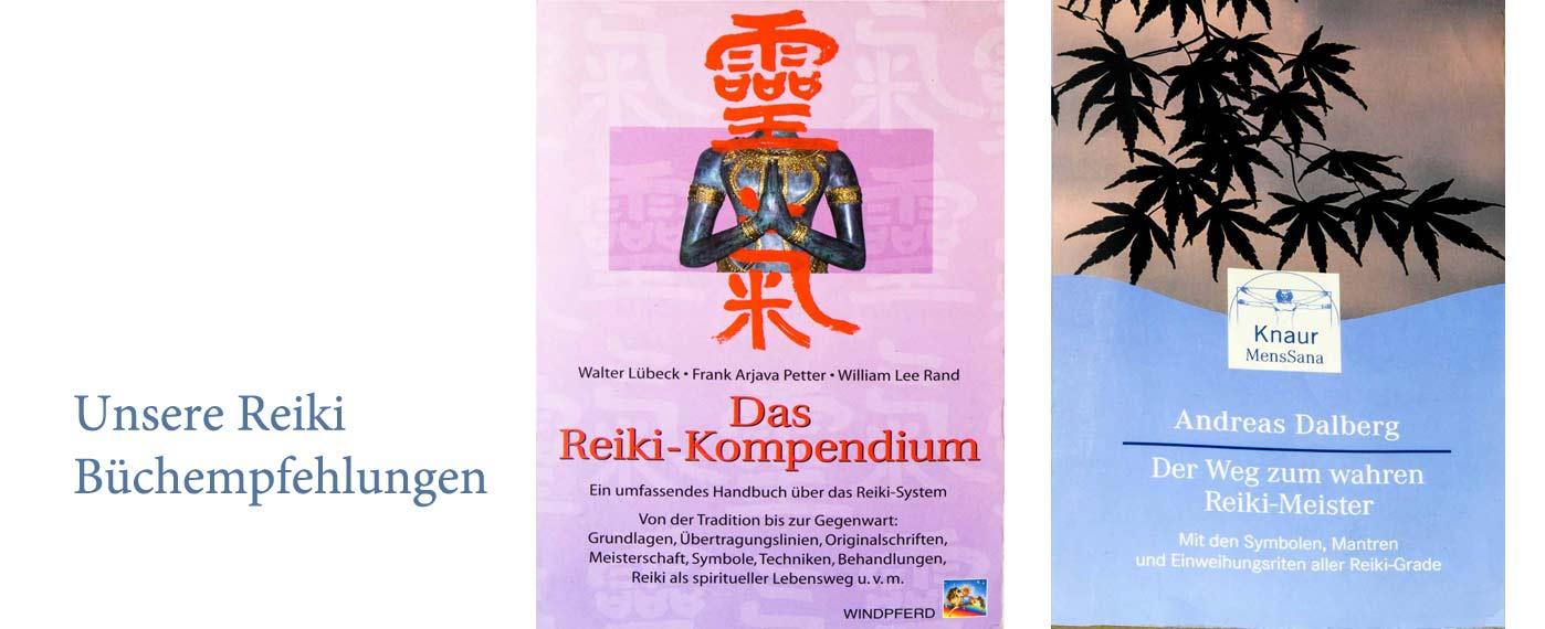 Unsere Reiki-Bücherempfehlungen:; Das reiki-Kompendium & Der Weg zum wahren Reikimeister