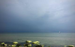 Segelboot auf der Ostsee