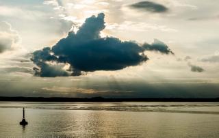 Vorüberziehende Wolke