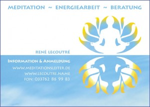 Werbung Meditationsleiter 2010