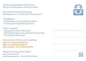 Werbung Meditationsleiter 2013 ~ Rückseite